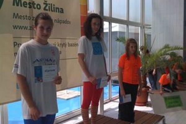 Michaela Salcerova (vľavo) získala druhé miesto.