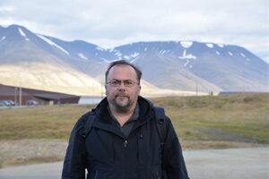 Martin Bačkor v Longyearbyen.