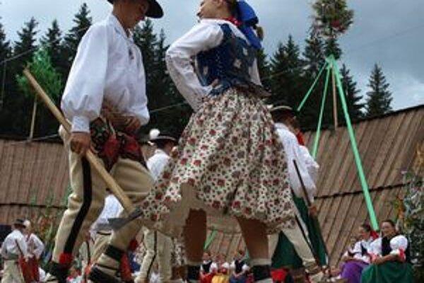 Tanečníci z lieseckej Skorušiny.