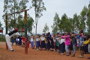 Školáci v Masake