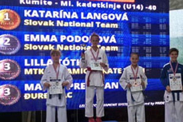 Prvé dve miesta získali pretekárky z karate klubu Kumade Topoľčany.