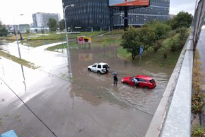 Záchrana auta na Ružinovskej