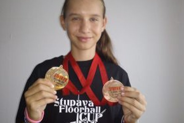 Michaela Žikavská - s dvoma medailami z turnaja v Stupave.