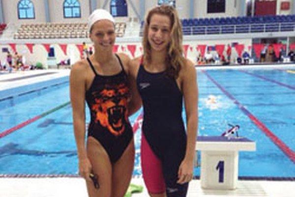 Andrea Podmaníková (vpravo) a J. Jefimova - ruská medailistka v Dohe.