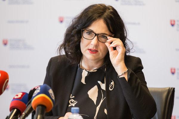 Ministerka školstva Martiny Lubyová.