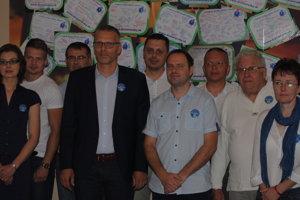 Richard Drutarovský, kandidát na primátora Prešova, s podporovateľmi.