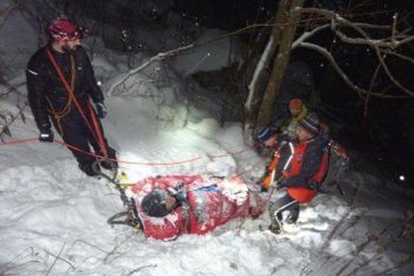 Záchrana turistov v Gaderskej doline.