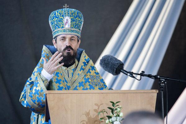 Mons. Milan Lach počas svätej omše na Národnej púti k Sedembolestnej Panne Márii.