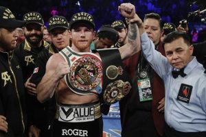 "Mexický profesionálny boxer Saúl ""Canelo"" Álvarez."
