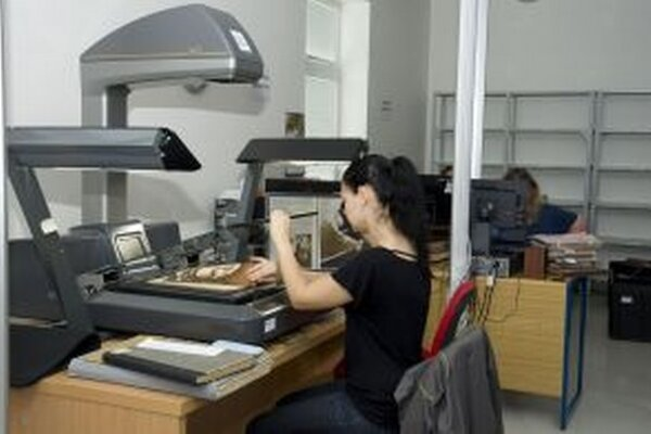 Na digitalizačnom pracovisku SNK.