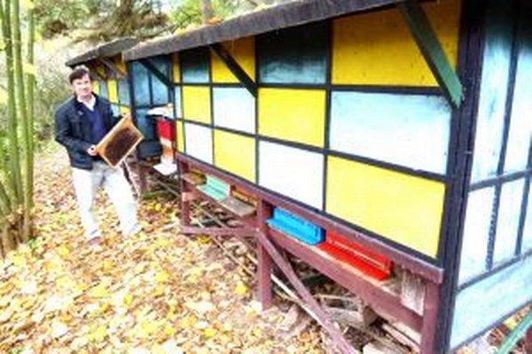 Milan Švrľo chová až 90 včelích rodín.