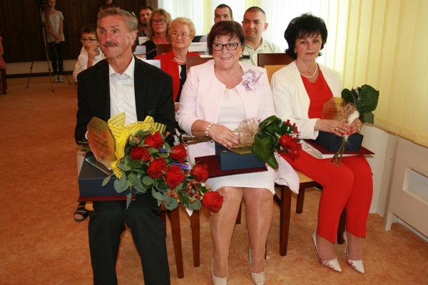 Ocenení Krompašania - I. Holečko, A. Dachová, A. Kraková