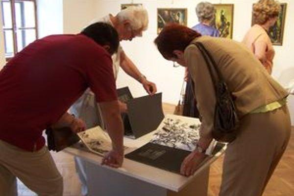 Prezentácia martinského rodáka Jána Skrisu návštevníkov galérie zaujala.