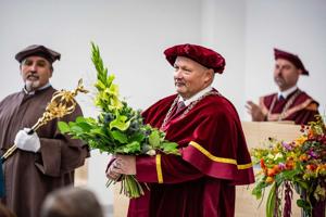 Inaugurácia nového rektora.
