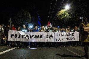 Pochod Za slušné Slovensko - Nikam neodchádzame!