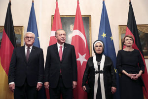 Erdogan s nemeckým prezidentom Steinmeierom.