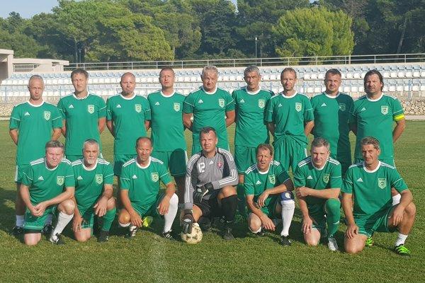 Futbaloví internacionáli Tatrana Prešov.