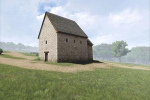 Rekonštrukcia predrománskeho kostola na Martinskom vrchu v Nitre.