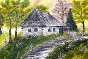 Výstave tematicky dominuje motív prírody, vidiecke usadlosti a vlastné videnia okolitého sveta.