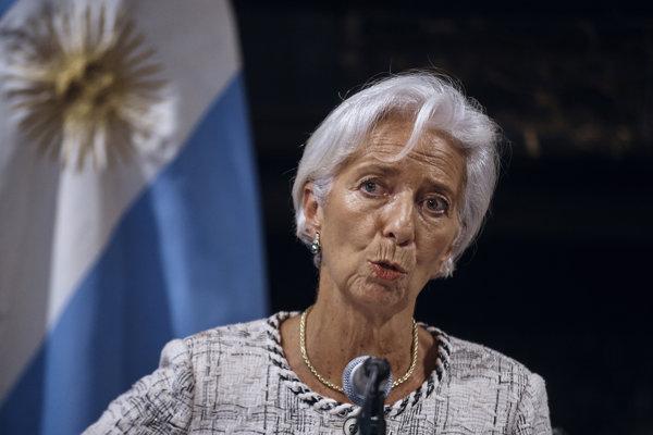 Šéfka MMF Christine Lagardová.