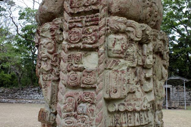 Ruiny mayského mesta.
