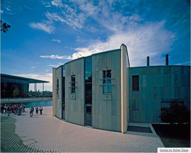 Pavilón automobilky Škoda vo Wolfsburgu.