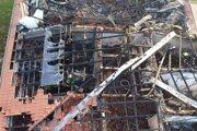 Budova obecného úradu po požiari.