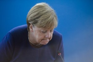 Nemecká spolková kancelárka a predsedníčka Kresťanskodemokratickej únie Nemecka (CDU) Angela Merkelová.