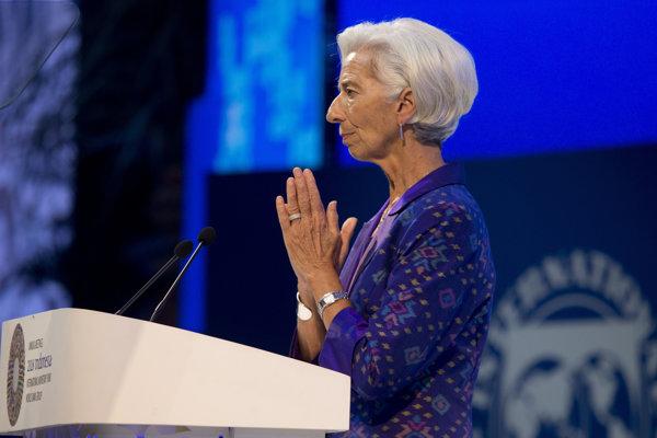 Generálna riaditeľka Medzinárodného menového fondu (MMF) Christine Lagardová.