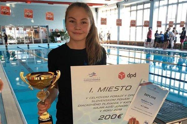 Nina Hodoňová vyhrala Slovenský pohár v diaľkovom plávaní.