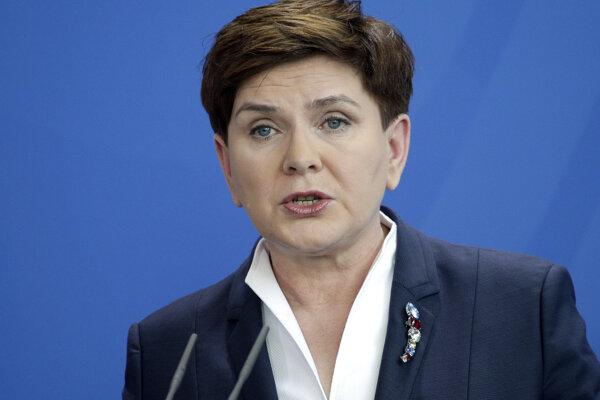 Podpredsedníčka poľskej vlády Beata Szydlová.