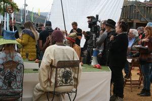 Juraj a Deana pri natáčaní