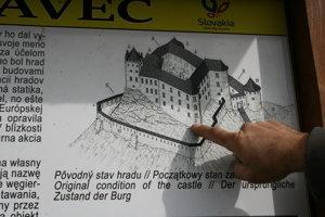 Pôvodný stav hradu.