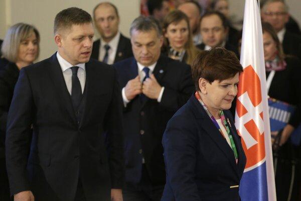Premiér Fico sa zúčastnil rokovania krajín Visegrádskej štvorky .