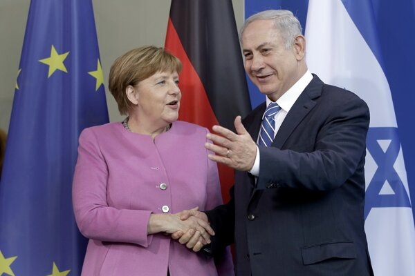 Angela Merkelová s izraelským premiérom Benjaminom Netanjahuom.