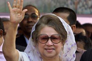Bývalá bangladéšska premiérka Chálida Zijáová.