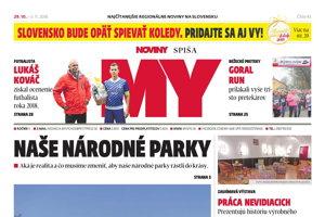 Titulná strana MY Novín Spiša č. 43/2018.