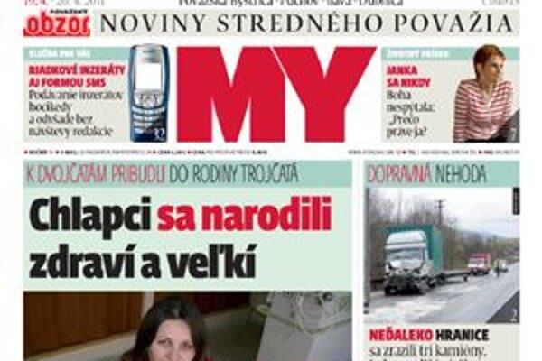 Aktuálne číslo MY Noviny stredného Považia (OBZOR).