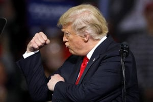 Donald Trump počas kampane.