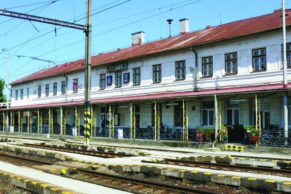 Železničná stanica v Martine.