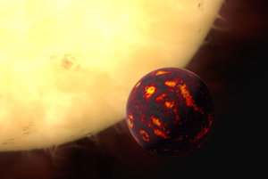 55 Cancri e so svojou hviezdou.