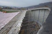Odkrytá strecha zimného štadióna v Prešove.