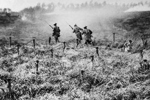 Americkí vojaci v roku 1918 neďaleko Somme.