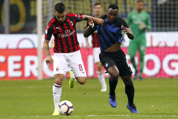 AC Miláno a Inter Miláno. Ilustračná snímka.