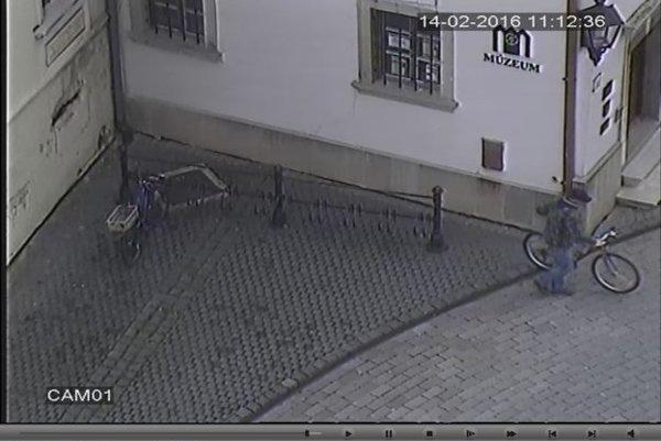 Muža nasmímali pri krádeži kamery.