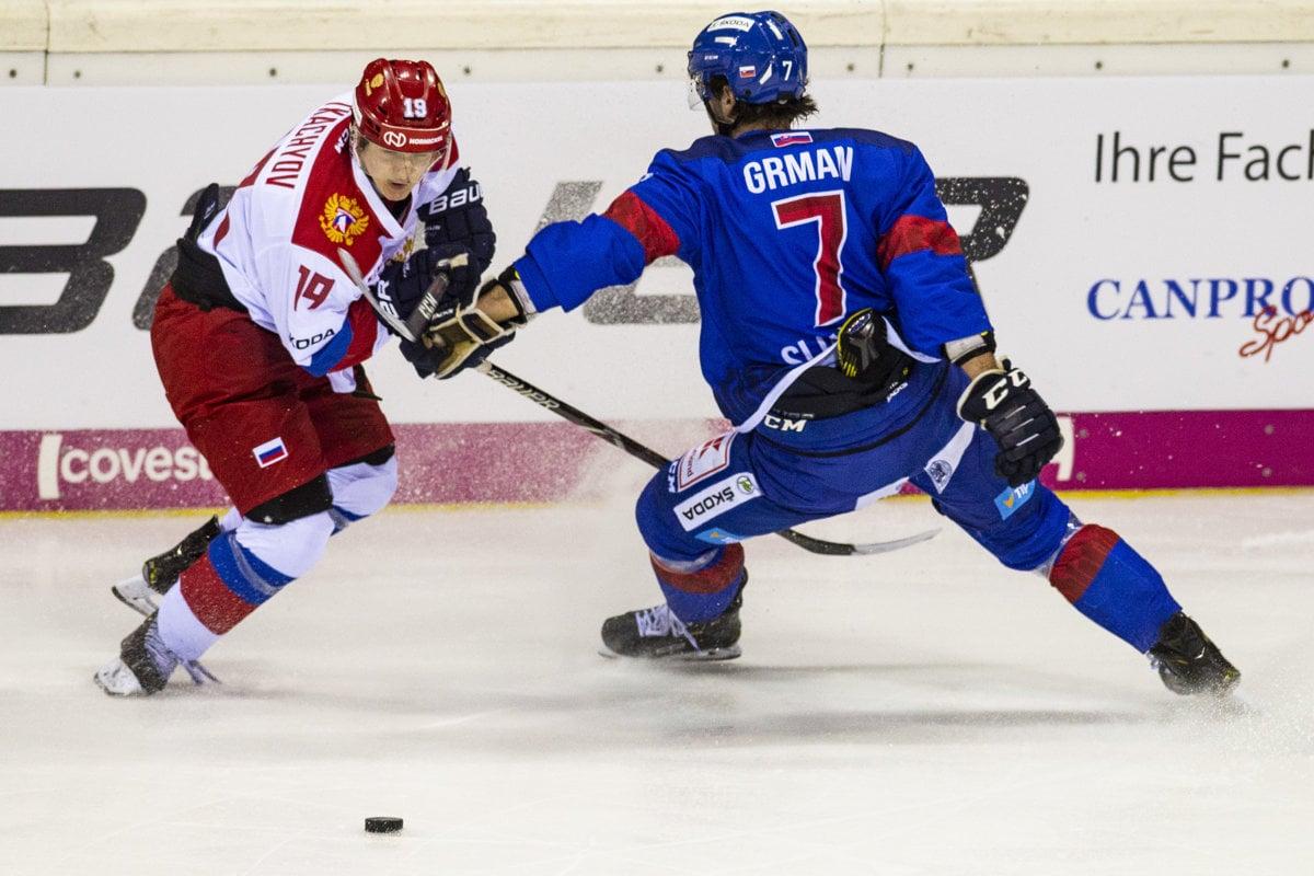 e48c854619efe Na snímke vľavo Vladimir Tkačov (Rusko) a vpravo Mário Grman (Slovensko) v