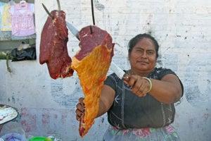 Obchodníčka patriaca k mexickým Zapotékom,u ktorých majú ženy dominantné postavenie.