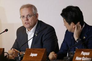 """Ustanovenia paktu by mohli predstavovať riziko """"nabádania k nelegálnemu vstupu do Austrálie"""", vyhlásil austrálsky premiér Morrison."""