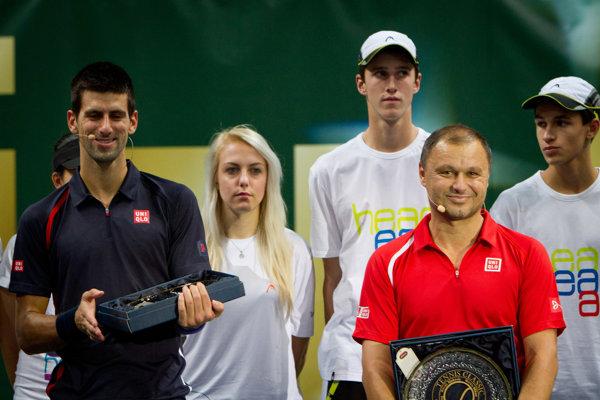 Marián Vajda s Novakom Djokovičom.
