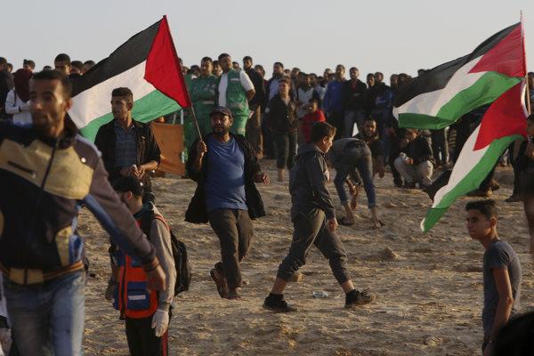 Ilustračná fotografia - protest v pásme Gazy.